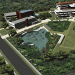 Aerial plans of Government Campus Plaza. Photographer: Courtesy T&T Business Guide