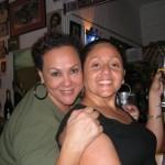 Allyson Hennessy and a friend at Veni Mangé. Photographer: Courtesy Veni Mangé