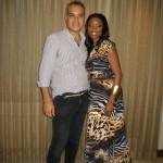 Headley with Trinidadian designer Peter Elias in Trinidad. Photographer: Courtesy Heather Headley