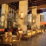 The patio at the Hyatt Regency in Port of Spain. Photographer: Peter Sheppard