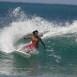 Surfing in the northeast. Photographer: Stephen Broadbridge