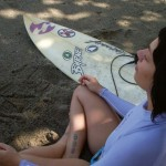 A surfer girl in Trinidad