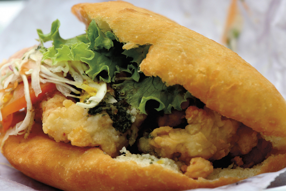 Trinidad & Tobago bake & shark. Photo: Shirley Bahadur