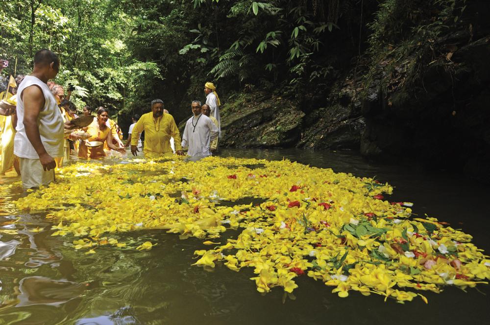 Ganga Dhaara River Festival in Blanchisseuse, Trinidad. Photo: Edison Boodoosingh
