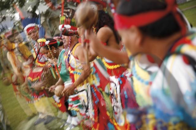An Amerindian smoke ceremony in Arima, Trinidad. Photo: CafeMoka