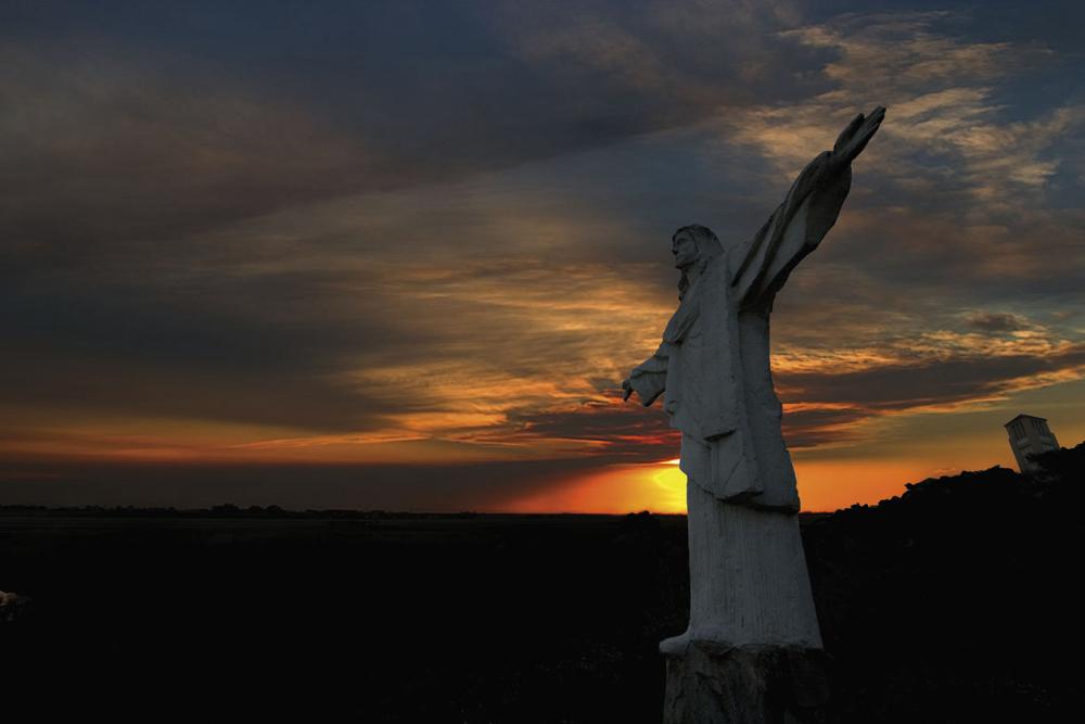 Sunset over Mount St. Benedict, Trinidad. Photo: Nisha Kong