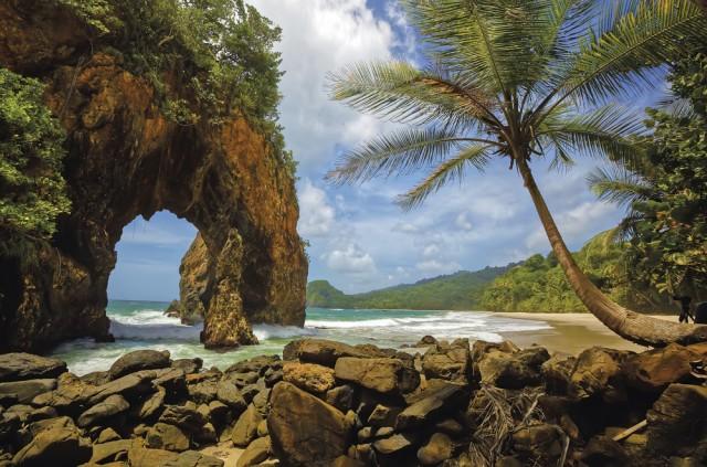 The arch at Paria Bay, Trinidad. Photo: Chris Anderson