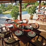 Dining on the patio at one of the Villas at Stonehaven, Tobago