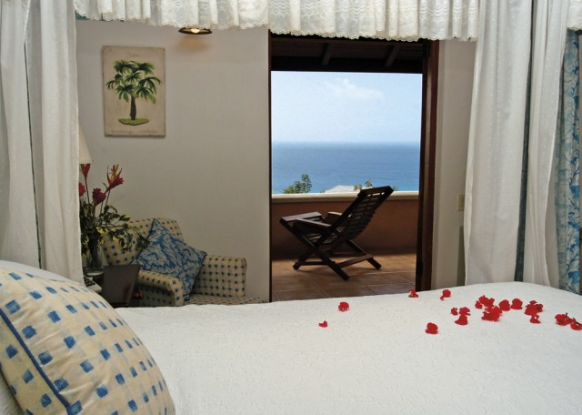 The master bedroom at one of the Villas at Stonehaven, Tobago