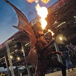 A firebreathing jab jab in Trinidad Carnival. Photo: Lyden Thomas
