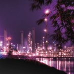 Pointe a Pierre, Trinidad refinery by night. Photo: Stephen Jay Photography