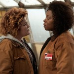 """Lorraine Toussaint with old friend Kate Mulgrew as nemeses Red and Vee on Season 2 of """"Orange is the New Black"""". Courtesy Netflx"""