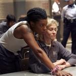 "Lorraine Toussaint as Yoga with co-star Judith Light on ""Ugly Betty"". Courtesy ABC/Dean Hendler"