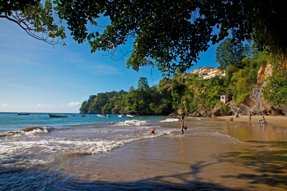 La Fillette Beach Trinidad. Photograph by Ariann Thompson
