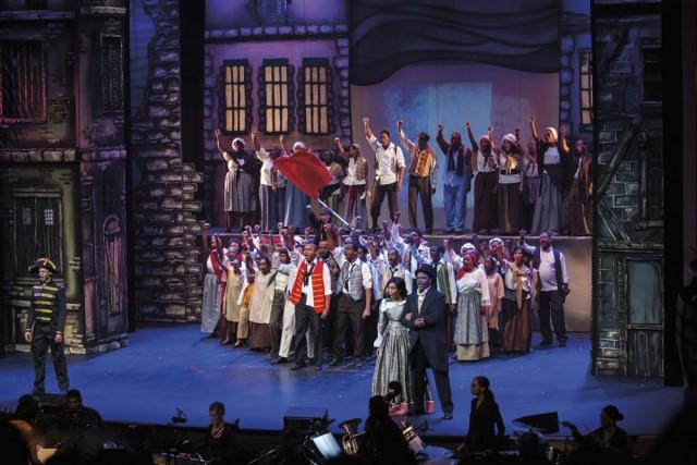 Marionettes Chorale Les Misérables. Photo by Butch & Allan Limchoy