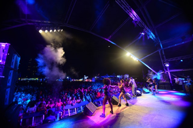 Machel Montano performs at CIC Fete. Photo by Jermaine Cruickshank, courtesy Machel Montano