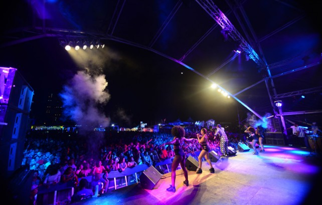 Machel Montano performs at CIC Fete. Photo by Jermaine Cruickshank, courtesy Machel Montano