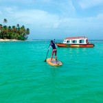 Stand-up-paddling in Tobago's crystal waters. Photo courtesy Stand Up Paddle