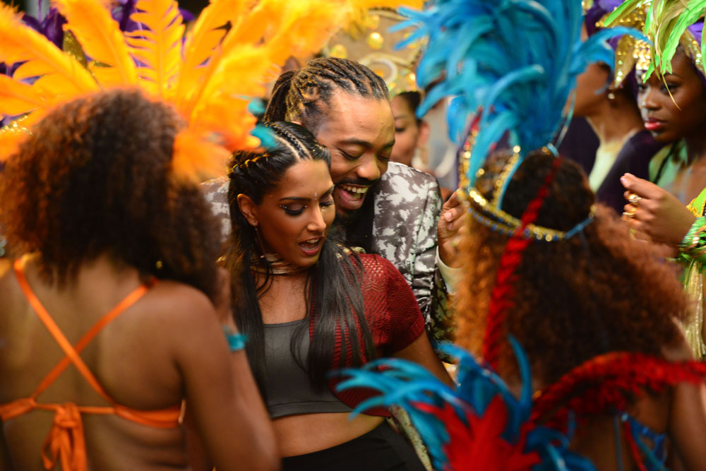 A scene from the locally shot movie, Bazodee. Photo by Jermaine Cruickshank, courtesy Machel Montano