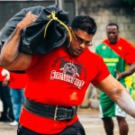 Vishall Singh on the course. Photo courtesy Strongest Man Competition