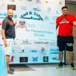 Vishall Singh collecting his prize cheque. Photo courtesy Strongest Man competition