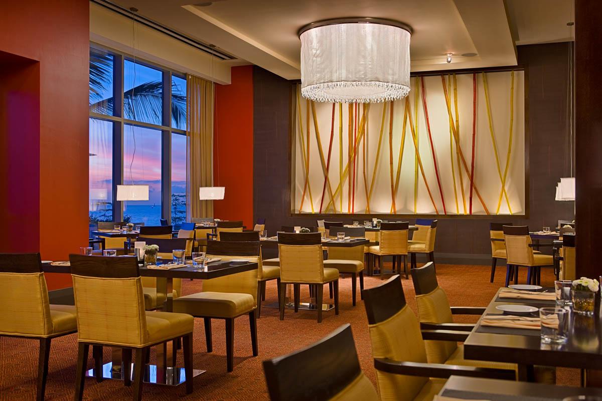 The Waterfront Restaurant. Courtesy the Hyatt Regency Trinidad.