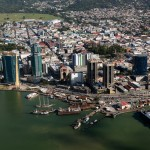 An aerial view of Port of Spain, Trinidad. Photo by Stephen Broadbridge