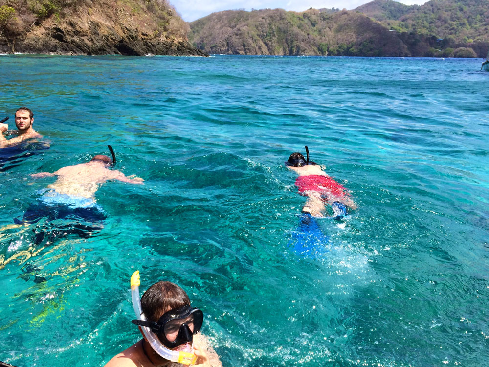 Snorkelling in Speyside, Tobago. Photo by Stephen Broadbridge