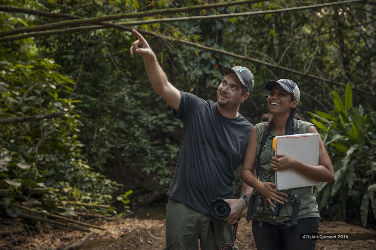 Producer and editor Drew Umland on scout with director Darisha J. Beresford. Photo: Dylan Quesnel