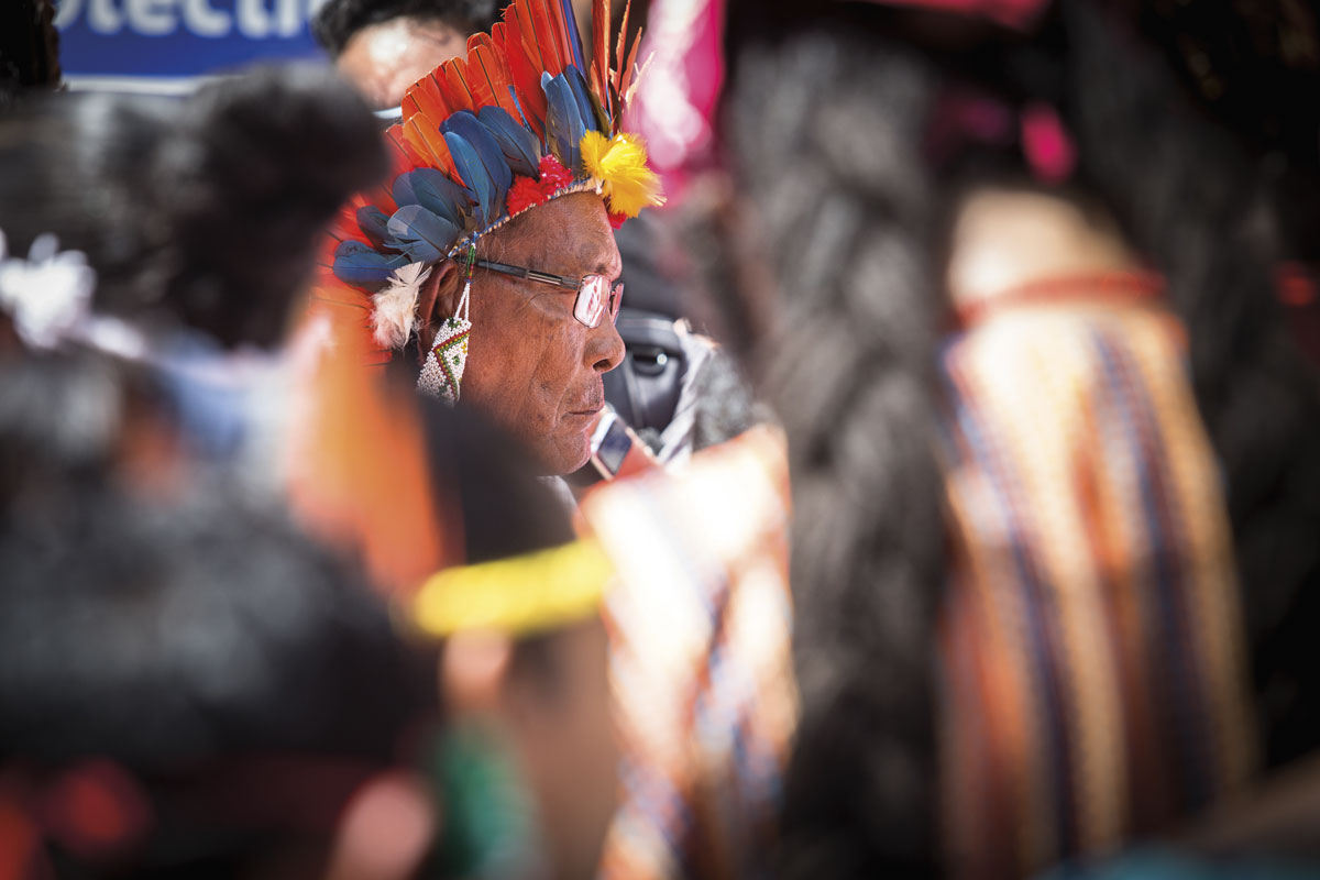 In 2017, a cermony was held at the Red House to honour indigenous ancestors whose skeletal remains were found under its foundations. Photo by Maria Nunes