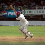 Brian Lara batting for West Indies against India at Kensington Oval, Barbados, in May 2002. Photo: Ukexpat