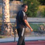 Ato Boldon on the track. Photo courtesy the Trinidad & Tobago Olympic Committee