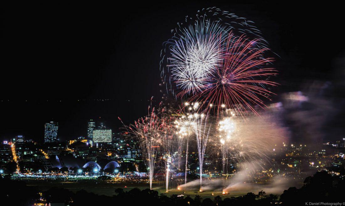 Fireworks. Photo by Kazim Daniel