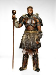 "Winston Duke as M'Baku in Marvel's ""Black Panther"". Courtesy Walt Disney Studios Motion Pictures"