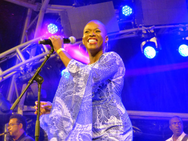 Vaughnette Bigford wows the crowd at North Coast Jazz (Blanchisseuse) last May. Her album, Born to Shine is available at vaughnettebigford.com. Photo by Camille Lowhar