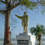 A controversial statue of Christopher Columbus in Moruga. Photo by Chris Anderson
