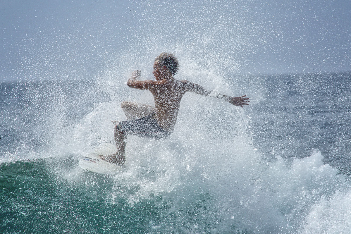 A surfer at Mt Irvine, Tobago. Photo by Chris Anderson