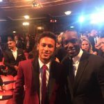 Dwight Yorke with Brazilian sensation Neymar. Photo via facebook.com/dwightyorke19