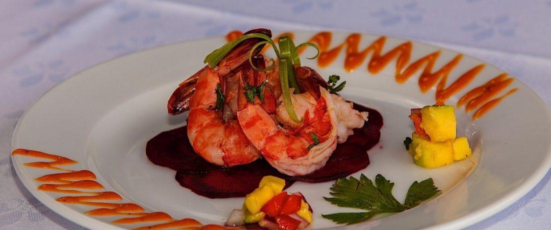 Seafood entrée at the Pavilion Restaurant. Courtesy the Villas at Stonehaven