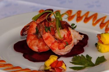 Seafood entrée at the Pavilion Restaurant. Courtesy the Villas at Stonehaven