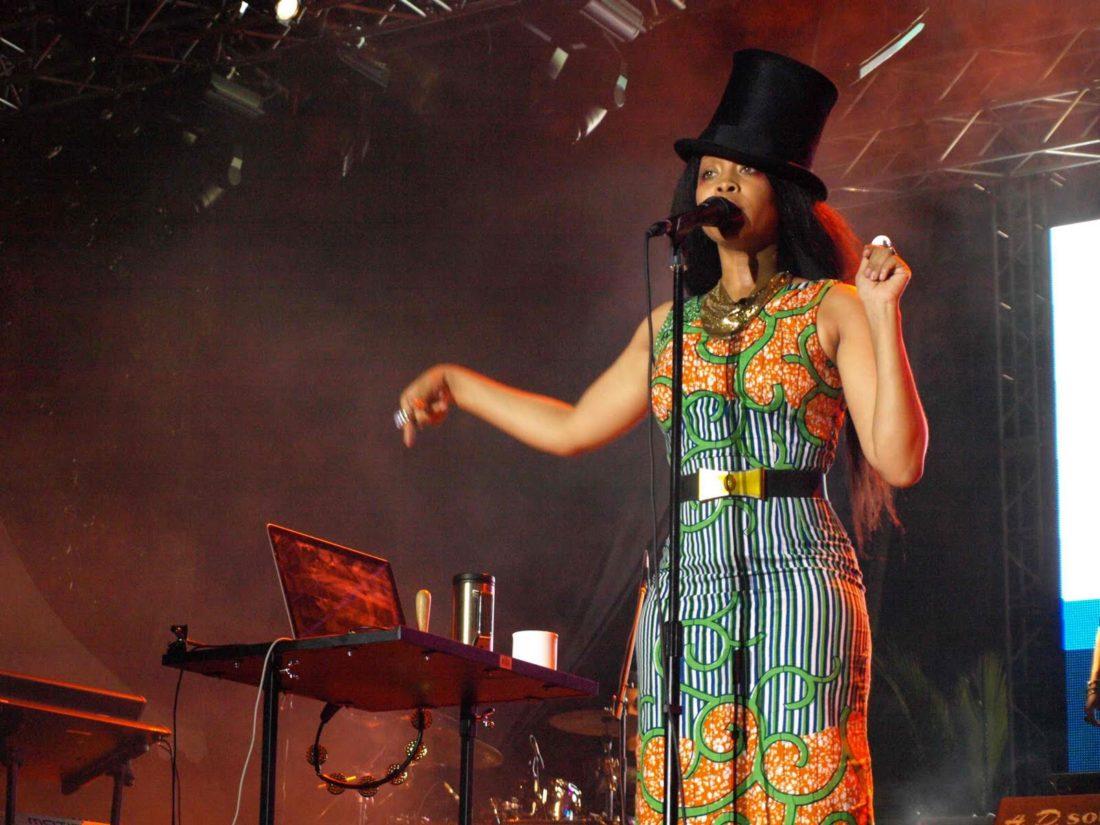 Erykah Badu performs at the Tobago Jazz Experience. Photo courtesy the THA