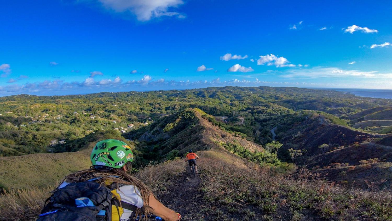 On top of the world. Photo: Daniel Knecht, instagram.com/2radwanderer. Courtesy Tobago Mountain Bike Tours