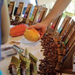 Cocoa and cocoa products on sale at the Green Market. Photo courtesy Green Market Santa Cruz
