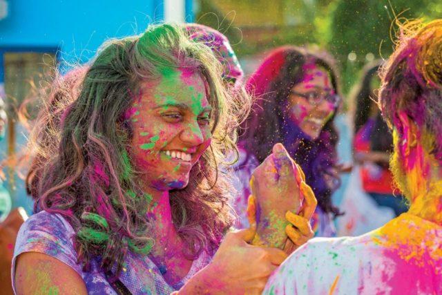 The University of the West Indies (UWI) Hindu Society's Phagwa celebrations. Photo by Avinath Ramadhin