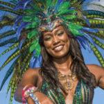 Harts masquerader Kenya Baird on Carnival Tuesday. Photo by Jason Audain