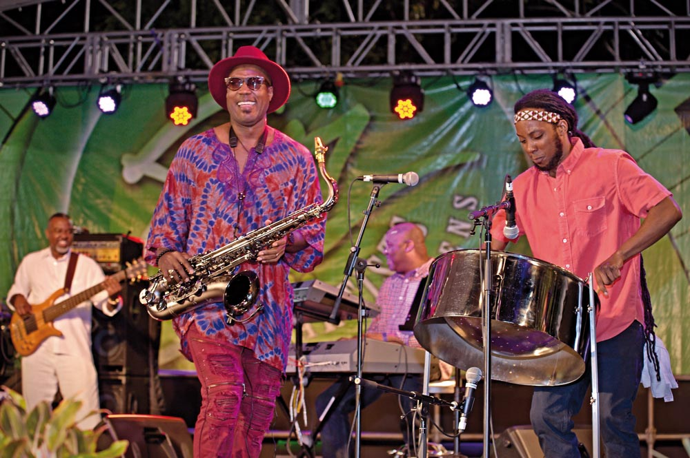 Elon Trotman at JAOTG. Photo courtesy Jazz Artists on the Green (JAOTG)