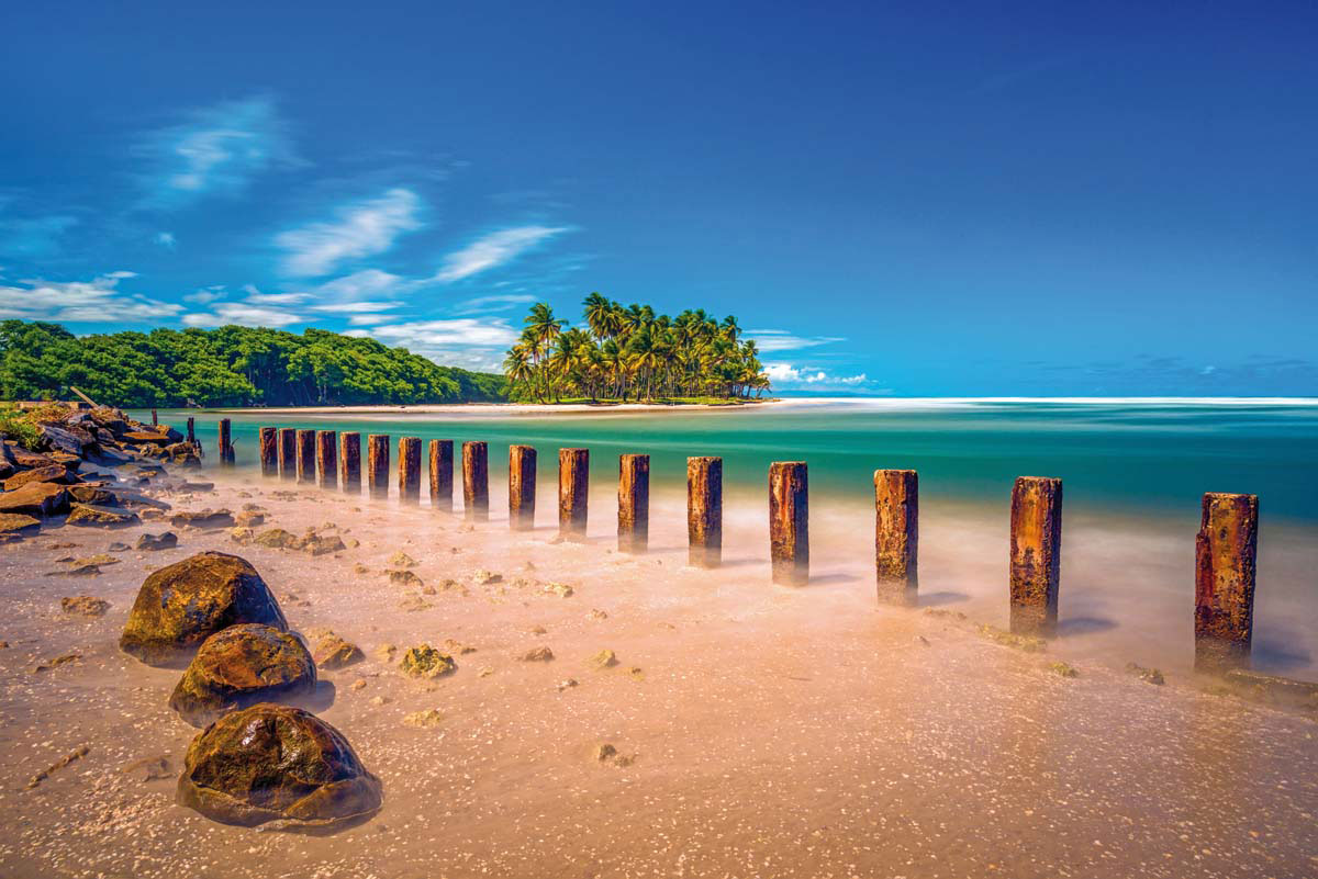 The Nariva river meets the Atlantic Ocean near Manzanilla. Photo by Jason Audain