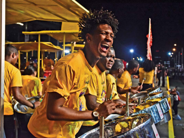 Invaders Steel Orchestra performs at Panorama. Photo by Edison Boodoosingh