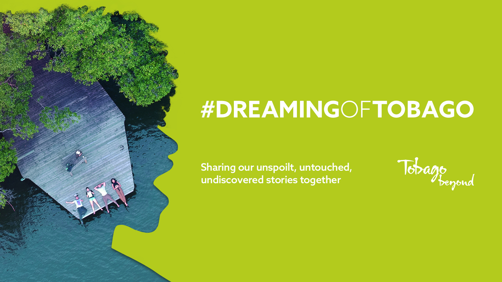 Official #DreamingofTobago campaign artwork featured on Tobago's social media pages