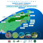 Map highlighting areas of interest in Tobago's Man and the Biosphere (MaB) site